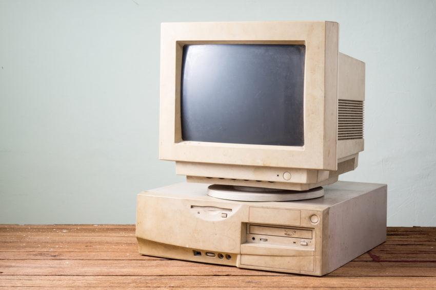 alter und veralteter Computer